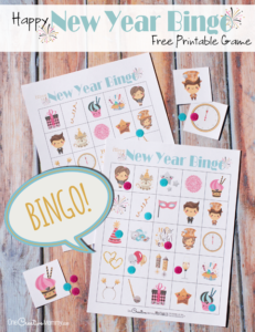 New Years Eve Bingo Game for Kids