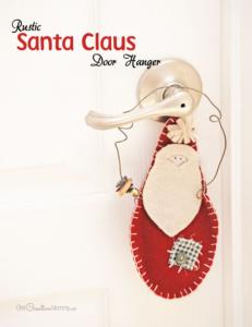 Easy Rustic Santa Claus Door Hangers