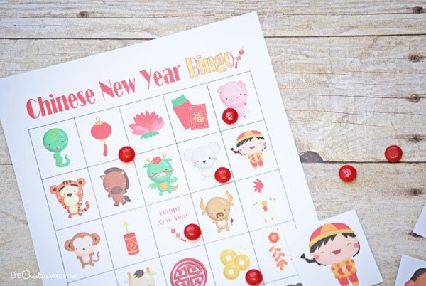 This Chinese New Year bingo game is perfect for the classroom or for fun at home. {OneCreativeMommy.com} #chinesenewyear #bingo #familyfun #printable