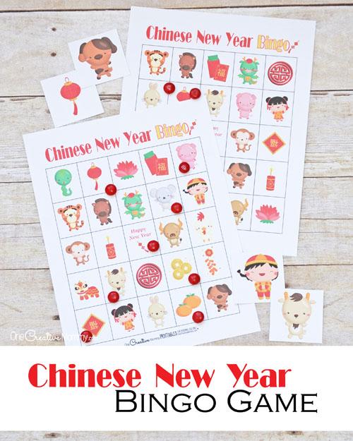 Chinese New Year Bingo Game Onecreativemommy Com