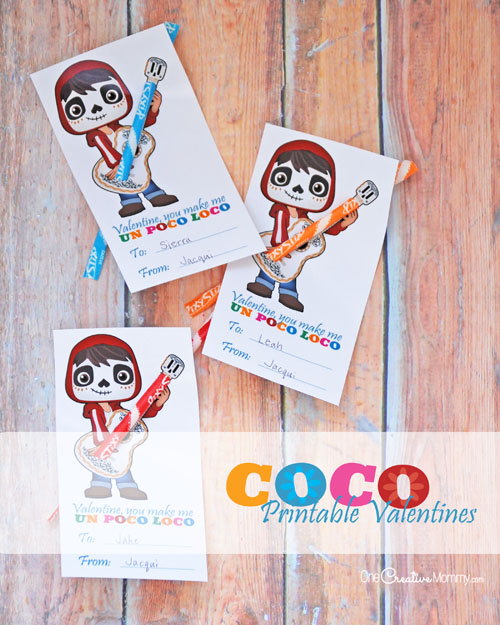 The cutest Coco Printable Valentines!