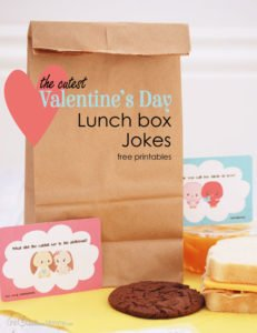 The cutest Valentine Lunch Box Jokes! Free Printables