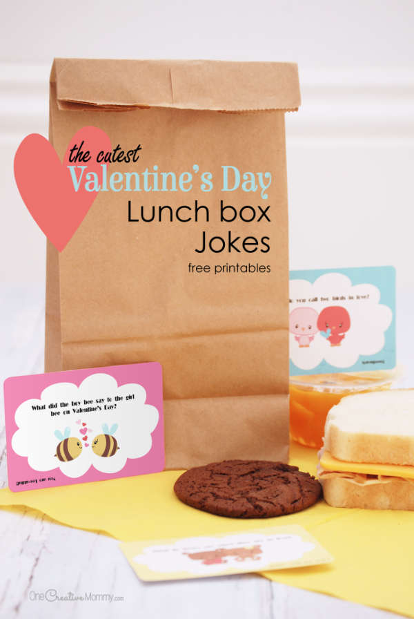 The Cutest Valentine Lunch Box Jokes Free Printables