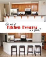 Update your kitchen in a flash with this simple kitchen fix {OneCreativeMommy.com} Why didn't I try this years ago?