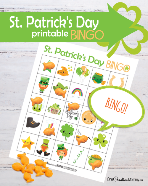 St. Patrick's Day Bingo Game Printable