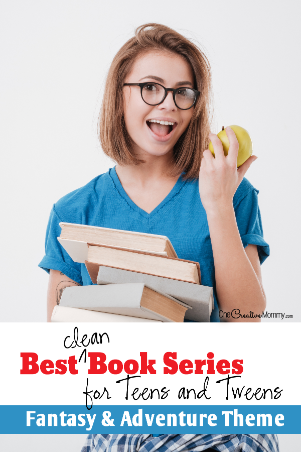 The Ultimate Collection of the Best Clean Books for Teens and Tweens -- Great story lines without the garbage! {OneCreativeMommy.com} Fantasty and adventure books series #books #bookclub #teenfiction #fantasybooks #cleanread