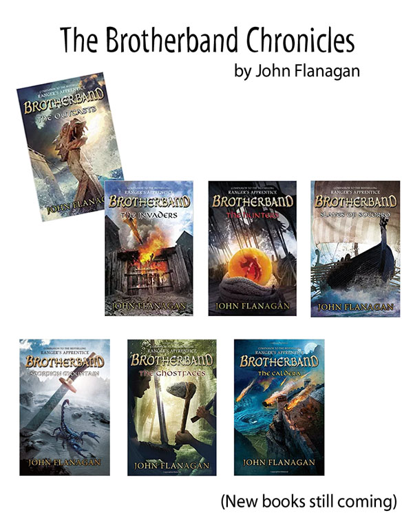 Best Clean Books for Teens and Tweens - The Brotherband Chronicles, by John Flanagan http://amzn.to/2FLBkch{OneCreativeMommy.com}