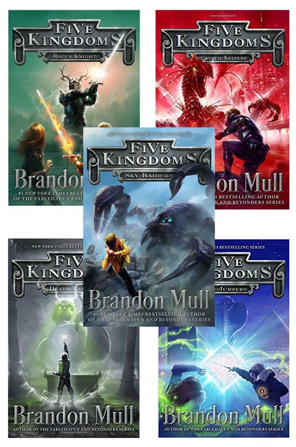 Best Clean Books for Teens and Tweens - The Five Kingdoms Series, by Brandon Mull http://amzn.to/2DrjuVO {OneCreativeMommy.com}