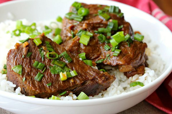 Pressure Cooker Asian-Style Boneless Short Ribs from Karen's Kitchen Stories | Featured in Amazing Dairy & Gluten Free Instant Pot Recipes Roundup {OneCreativeMommy.com} #instantpot #dairyfree #glutenfree #pressurecooker