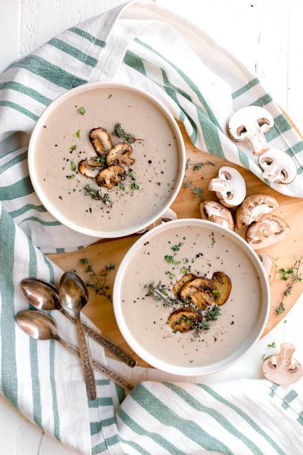 Dairy Free Cream of Mushroom Soup from The Movement Menu | Featured in Amazing Dairy & Gluten Free Instant Pot Recipes Roundup {OneCreativeMommy.com} #instantpot #dairyfree #glutenfree #pressurecooker
