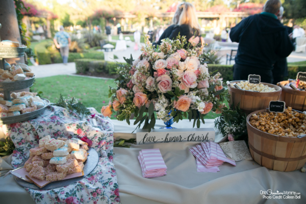 The surprisingly easy way to host a gluten free wedding reception. No expensive specialty foods required! {OneCreativeMommy.com} #glutenfree #weddingreception #weddingfood