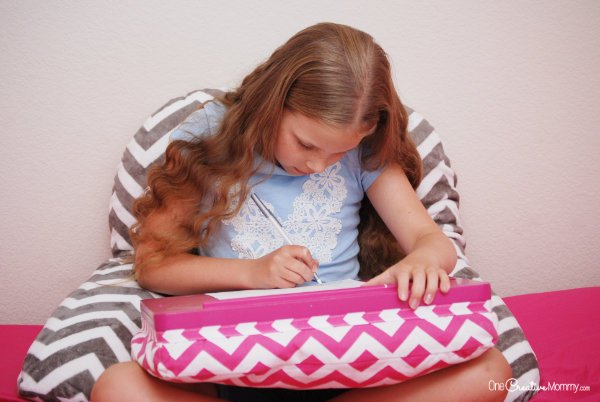 The Sleep ZZZ pillow is great for reading and homework, too! {OneCreativeMommy.com} ad