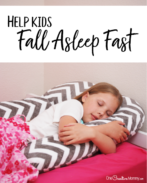 Find out the secret to help kids fall asleep fast and stay asleep! {OneCreativeMommy.com} Parenting Tips, Sleep Tips, Sleep ZZZ #parentinghacks #sleephacks #ad