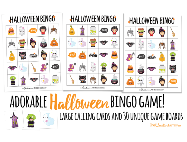 graphic about 25 Printable Halloween Bingo Cards named Printable Halloween Bingo Playing cards