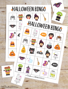 Adorable Halloween Bingo game perfect for class parties #halloween #bingo #printable #school #backtoschool #partyideas