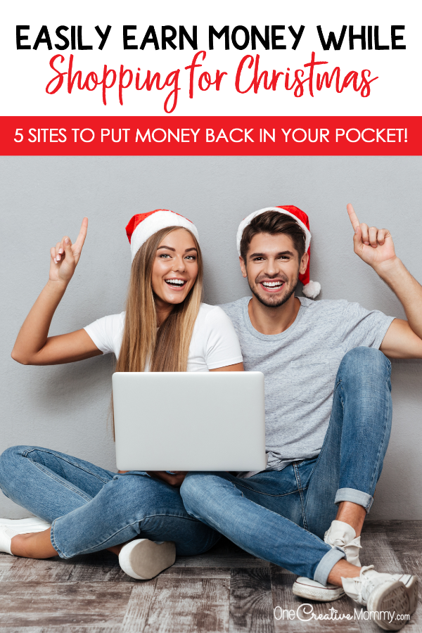 The shocking way moms are stretching their Christmas budget while they shop! The game-changing method to find the best deals online and earn money while shopping. {OneCreativeMommy.com} #getpaidtoshop #savemoney #saveonshopping #frugal #deals #cashbacksites #moneytips