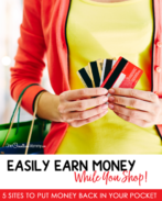 The game-changing method to find the best deals online and earn money while shopping! {OneCreativeMommy.com} Why didn't I know about this years ago? #getpaidtoshop #savemoney #saveonshopping #frugal #deals #cashbacksites #moneytips