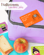 Make lunchtime amazing with cool Halloween Lunchbox Jokes. Collect them all for a joke every school day in October. {OneCreativeMommy.com} #lunchboxjokes #halloween #lunchtime #schoollunch #lunchnotes #lunchboxnotes #jokes