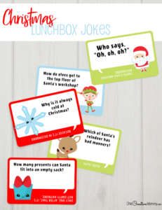 Adorable Christmas Lunchbox Jokes for Kids