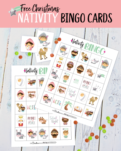 Nativity Bingo is the perfect game for families who want to teach the true meaning of Christmas. Download the free Bingo game today! {OneCreativeMommy.com} #christmasgamesforkids #nativity #bingo #christmas #familyfun