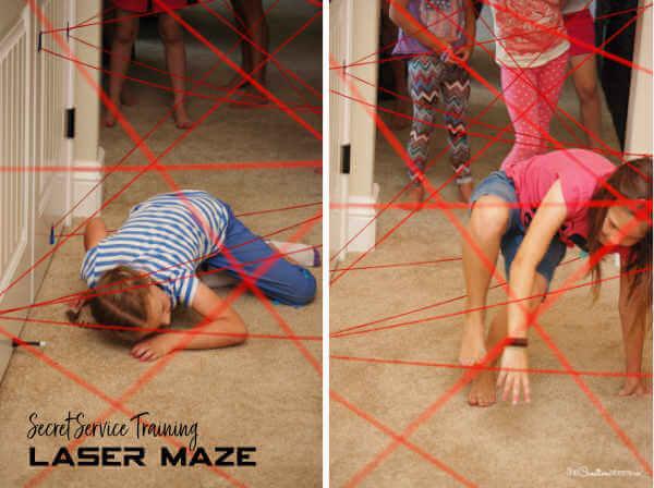 Yarn Laser Maze for Secret Service Activity {OneCreativeMommy.com} #secretservice #activitydays #girlscouts