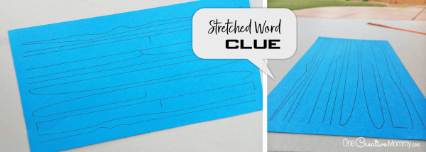 Stretched Word Clue for Secret Service Activity {OneCreativeMommy.com} #secretservice #spyclues