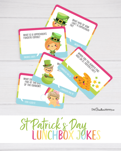 Epic St. Patrick's Day lunchbox jokes give kids a little luck!