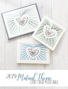 2019 Mutual Theme Craft and Printables