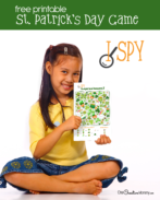 Love this I Spy Leprechauns game! Fun and free is my favorite combination. {OneCreativeMommy.com} St. Patrick's Day activities #ispy #stpatricksday #game #leprechauns #printable