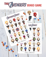 My boys are going to love Avengers Bingo! It's perfect for their birthday party. {OneCreativeMommy.com} Free printable game.#avengers #birthdaypartyideas #bingo #freeprintable #superheroes #avengersgame