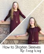 I love this easy dress refashion for Summer! My kids grow so fast. This is perfect to make their clothes last longer. {OneCreativeMommy.com} #dressrefashion #upcycle #frugal #tutorial