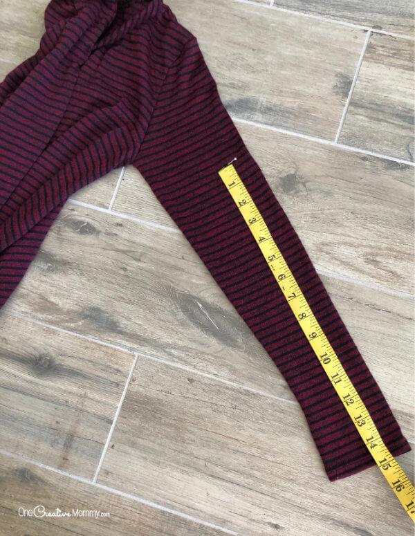 How to Shorten Sleeves the Easy Way - Hem and Pin {OneCreativeMommy.com}