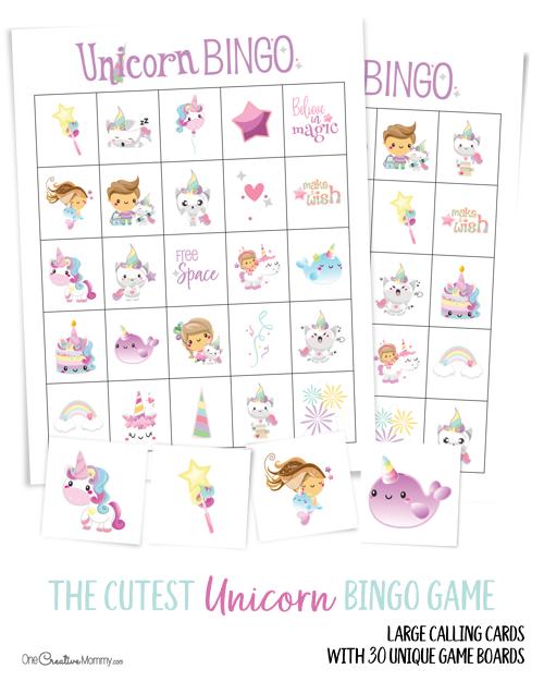 Free Unicorn Bingo Game