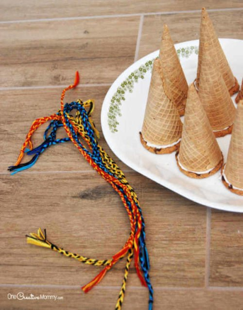 ice cream cone witch hats
