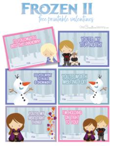 Frozen 2 free printable valentines