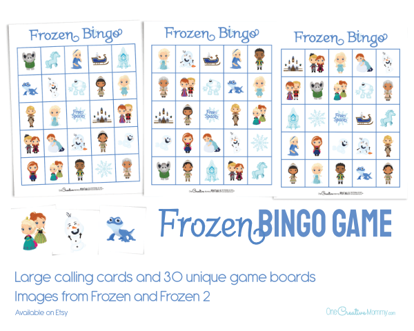 Frozen Bingo Game -- 30 unique game boards