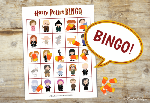 This is the cutest Harry Potter bingo game ever! All of my favorite characters are included. This is perfect for our Harry Potter birthday party. {OneCreativeMommy.com} #harrypotterparty