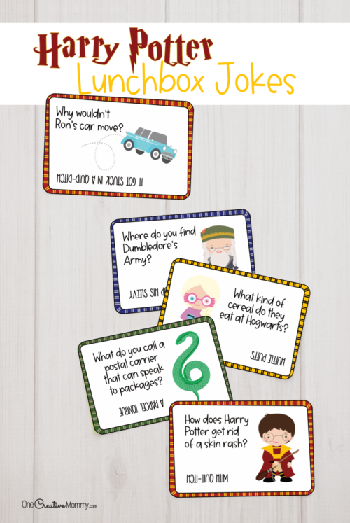 5 Free Harry Potter lunchbox jokes