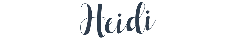 Author's Signature - Heidi