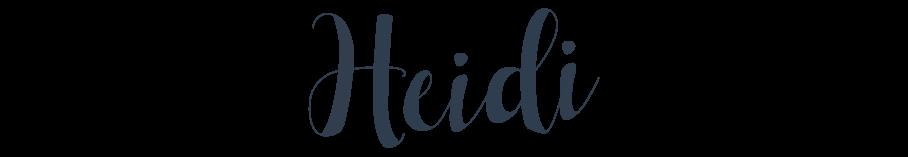 Author's Signature - Heidi